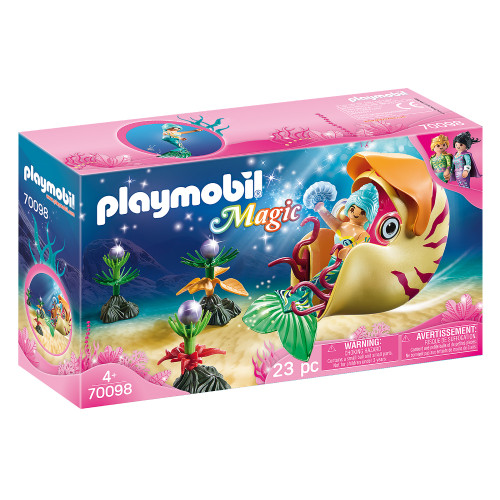 Playmobil Mermaid with Sea Snail Gondola packaging
