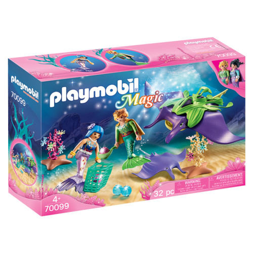Playmobil Pearl Collectors with Manta Ray packaging
