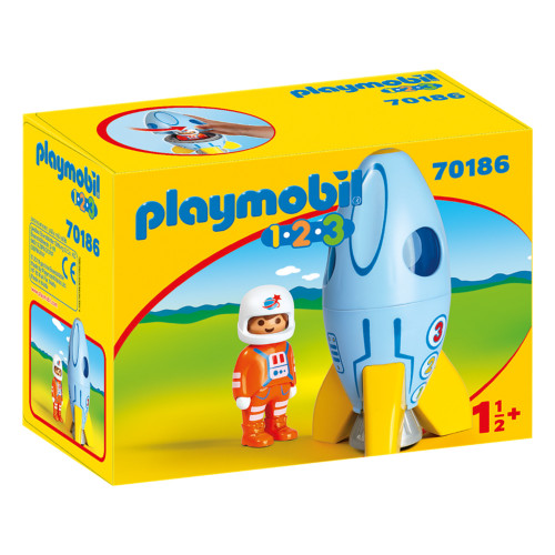 Playmobil Astronaut with Rocket packaging