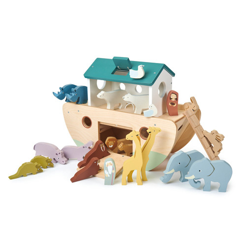 Tender Leaf Toys Noah's Wooden Ark angle view