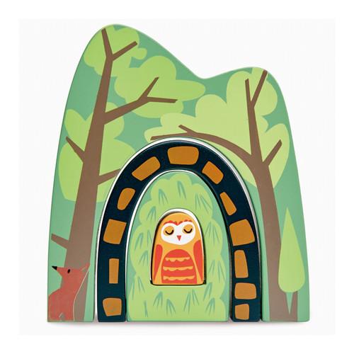 Tender Leaf Toys Forest Tunnels stacked together