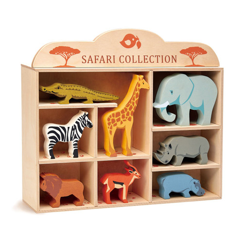 Tender Leaf Toys Wooden Safari Animals Set