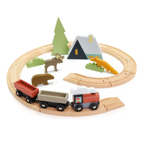 Tender Leaf Toys Treetops Train Set 8701