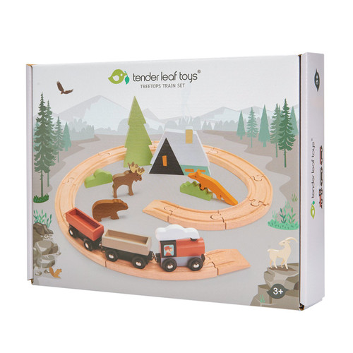 Tender Leaf Toys Treetops Train Set box