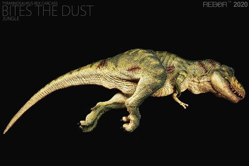 REBOR Male Tyrannosaurus Rex Carcass Bites the Dust Jungle