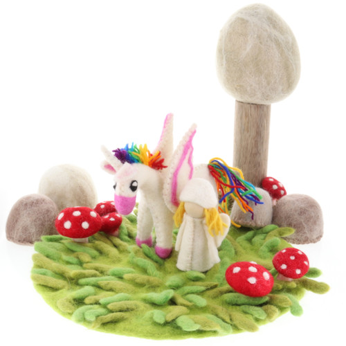 Papoose Summer Fairy House Grassy Mat scene (other pieces sold separately)