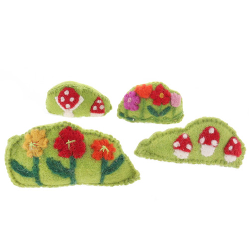 Papoose Flower & Toadstool Bushes 4pc