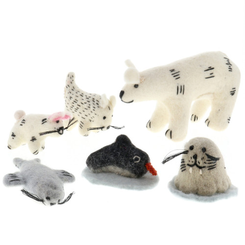 Papoose Arctic Animals 6pc