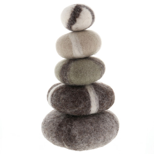 Papoose Stacking Set Rocks stacked
