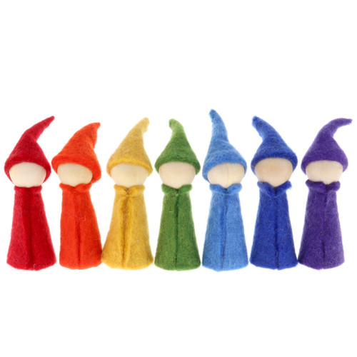 Papoose Rainbow Gnomes 7pc