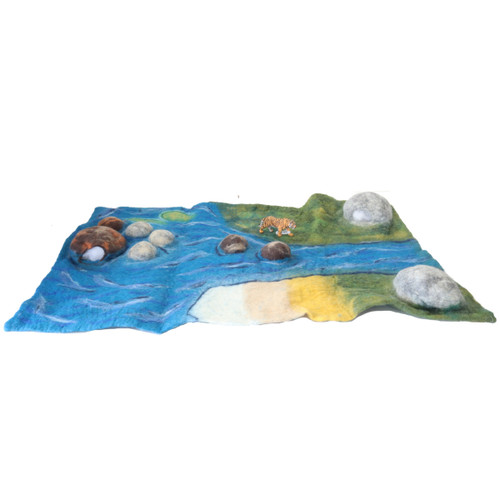 Papoose Estuary Mat with Schleich Tiger (sold separately)