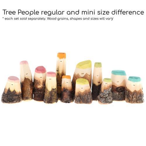 Let Them Play Mini Tree People Earth Rainbow 6pc