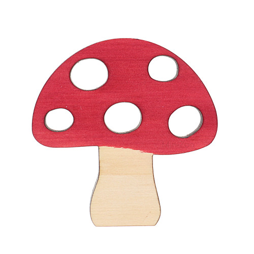 Let Them Play Storyscene Mini Mushroom Dark Red
