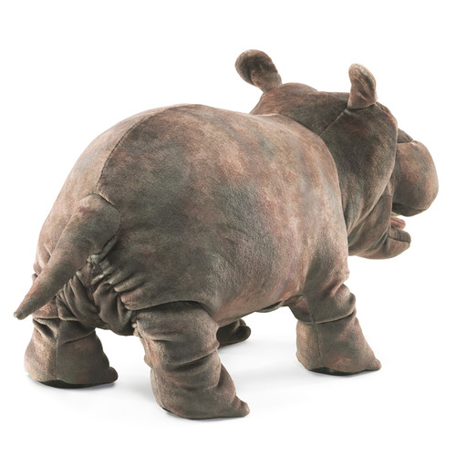 Folkmanis Baby Hippo Puppet back