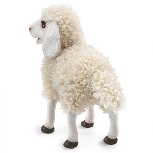 Folkmanis Woolly Sheep Puppet back
