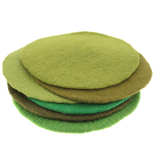Papoose Landscape Mats 6 green shades