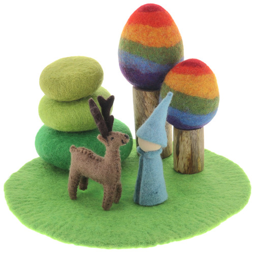 Papoose Landscape Mat Green gnome scene (each piece sold separately)