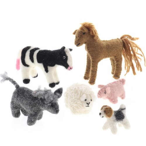 Papoose Country Animals 6pc