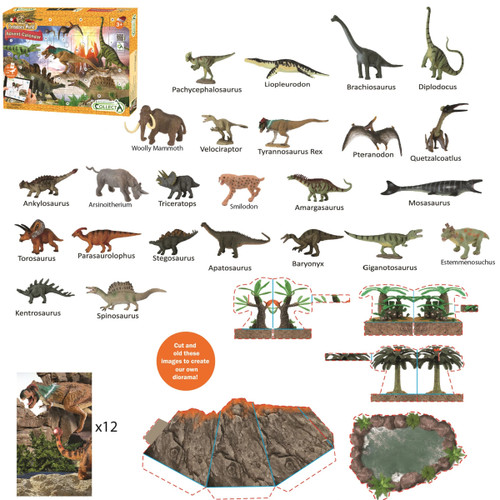 CollectA Prehistoric Advent Calendar contents