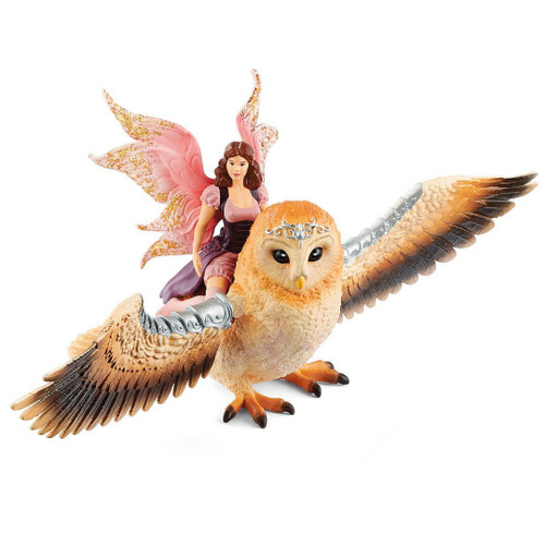 Schleich Elf On Glitter Owl