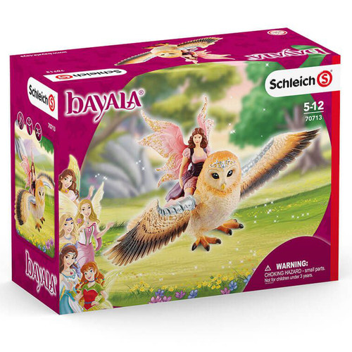 Schleich Elf On Glitter Owl box