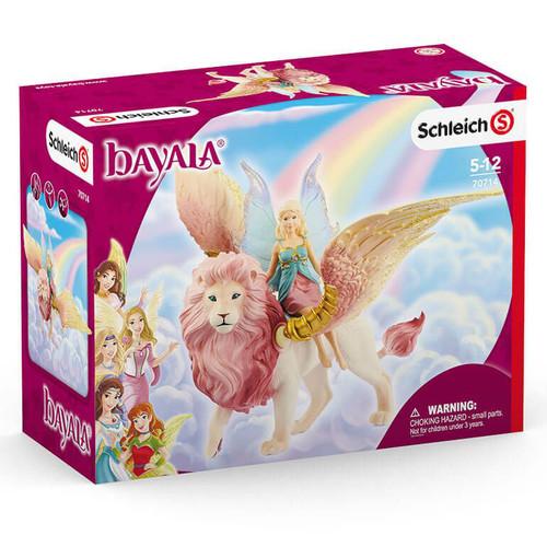 Schleich Elf On Winged Lion box