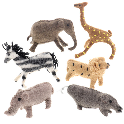 Papoose African Animals 6pc