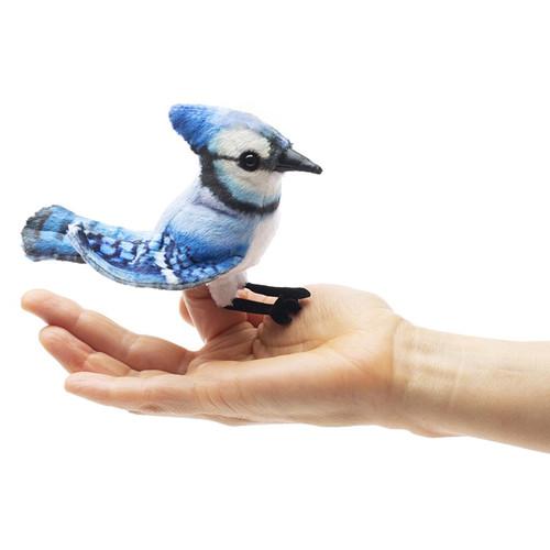 Folkmanis Mini Blue Jay Finger Puppet