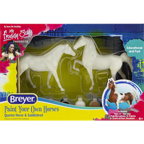 Breyer Paint Your Own Horse Qtr Horse & Saddlebred packaging