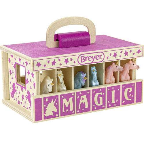 Breyer Stablemates Unicorn Magic Wooden Carry Stable