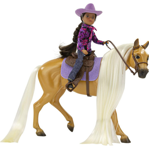 Breyer Classics Charm & Western Rider Gabi riding