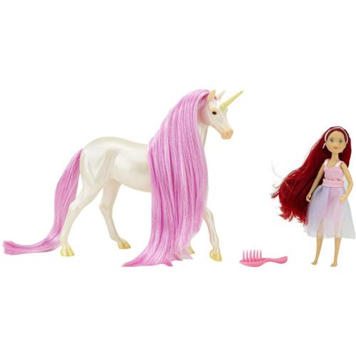 Breyer Classics Magical Unicorn Sky & Fantasy Rider Meadow