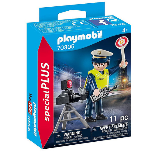 Playmobil Police Officer with Speed Trap box