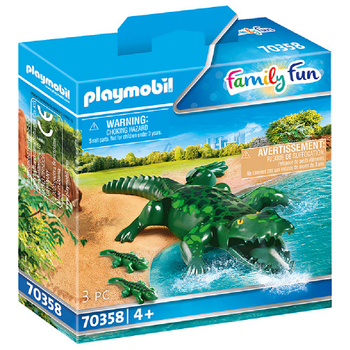 Playmobil Alligator with Babies box