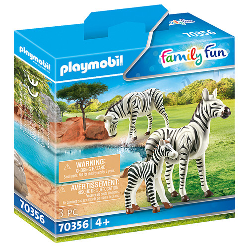 Playmobil Zebras with Foal box