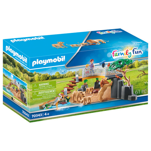 Playmobil Outdoor Lion Enclosure box