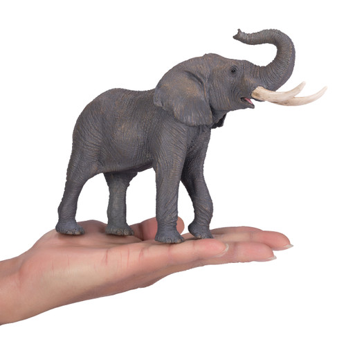 Mojo African Bull Elephant size reference in hand