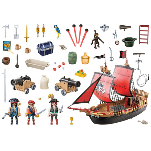 Playmobil Skull Pirate Ship inclusions