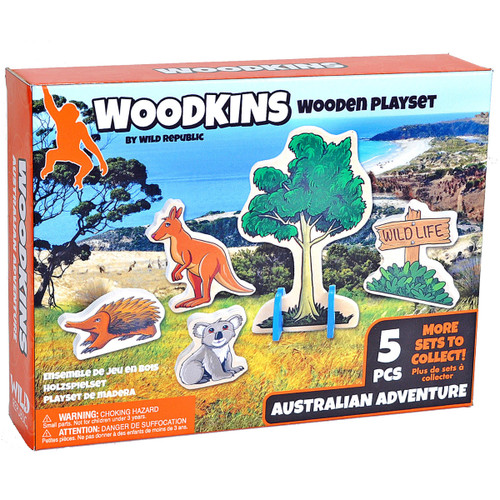 Woodkins Australian Adventure box
