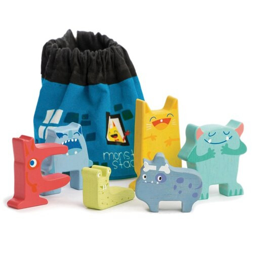 Tender Leaf Toys Monster Stackers with Bag