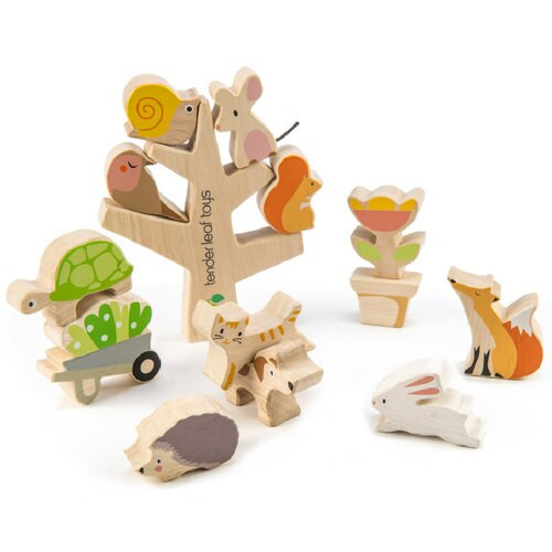 Tender Leaf Toys Stacking Garden Animal Friends