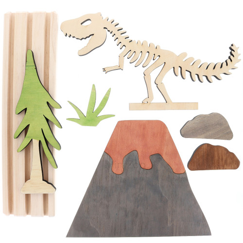 Let Them Play Storyscene Dino Set flatlay inclusions