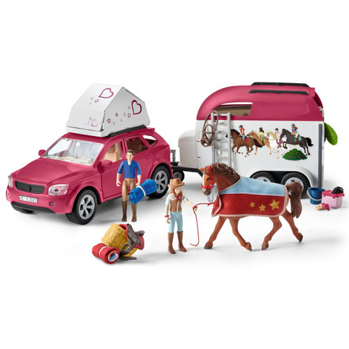 Schleich Adventure with Car and Horse Trailer