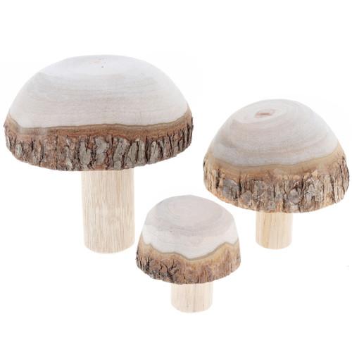 Let Them Play Wooden Mushrooms