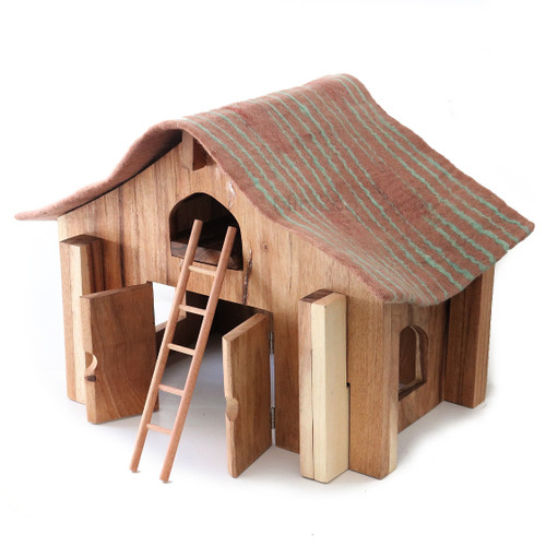 Papoose Barn with Felt Roof and Ladder