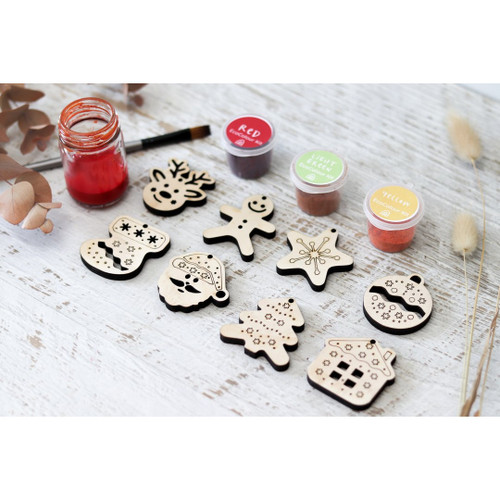 Let Them Play DIY Wooden Christmas Decorations