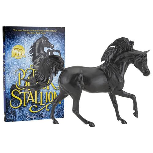 Breyer Freedom Black Stallion Horse & Book Set