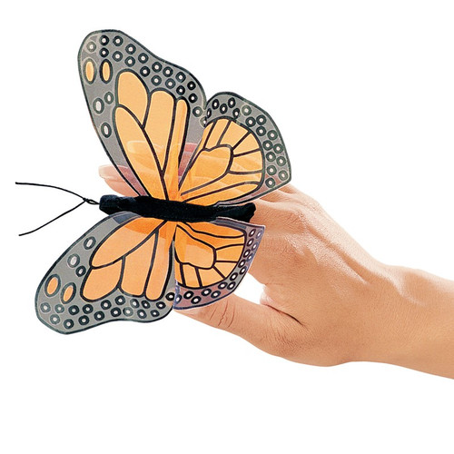 Monarch Butterfly Finger Puppet