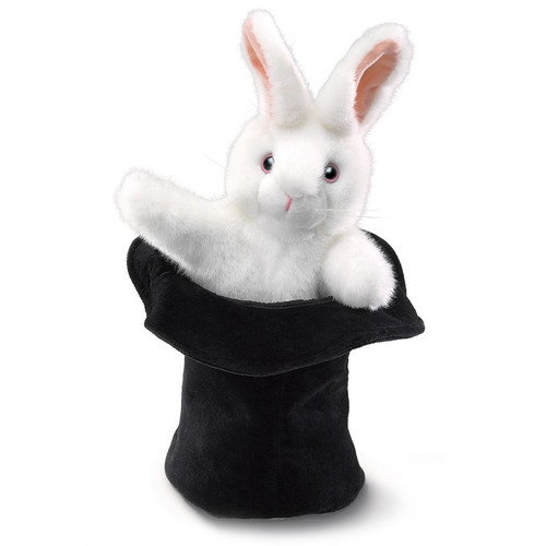 Rabbit in the Hat Hand Puppet
