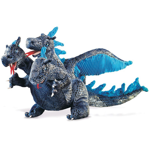 3 Headed Blue Dragon Puppet